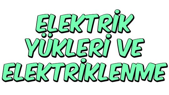 Elektrik Yükleri ve Elektriklenme