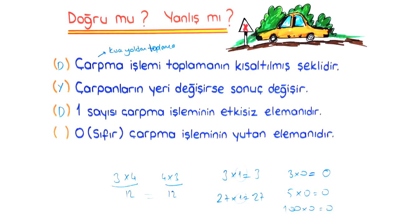 Doğal Sayılarla İşlemler konusu 3 Basamaklı Sayılarla Çarpma eğitimi