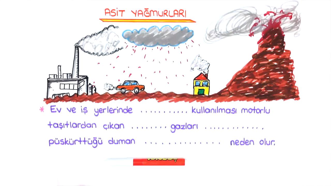 Asitler ve Bazlar konusu Asit Yağmuru  eğitimi