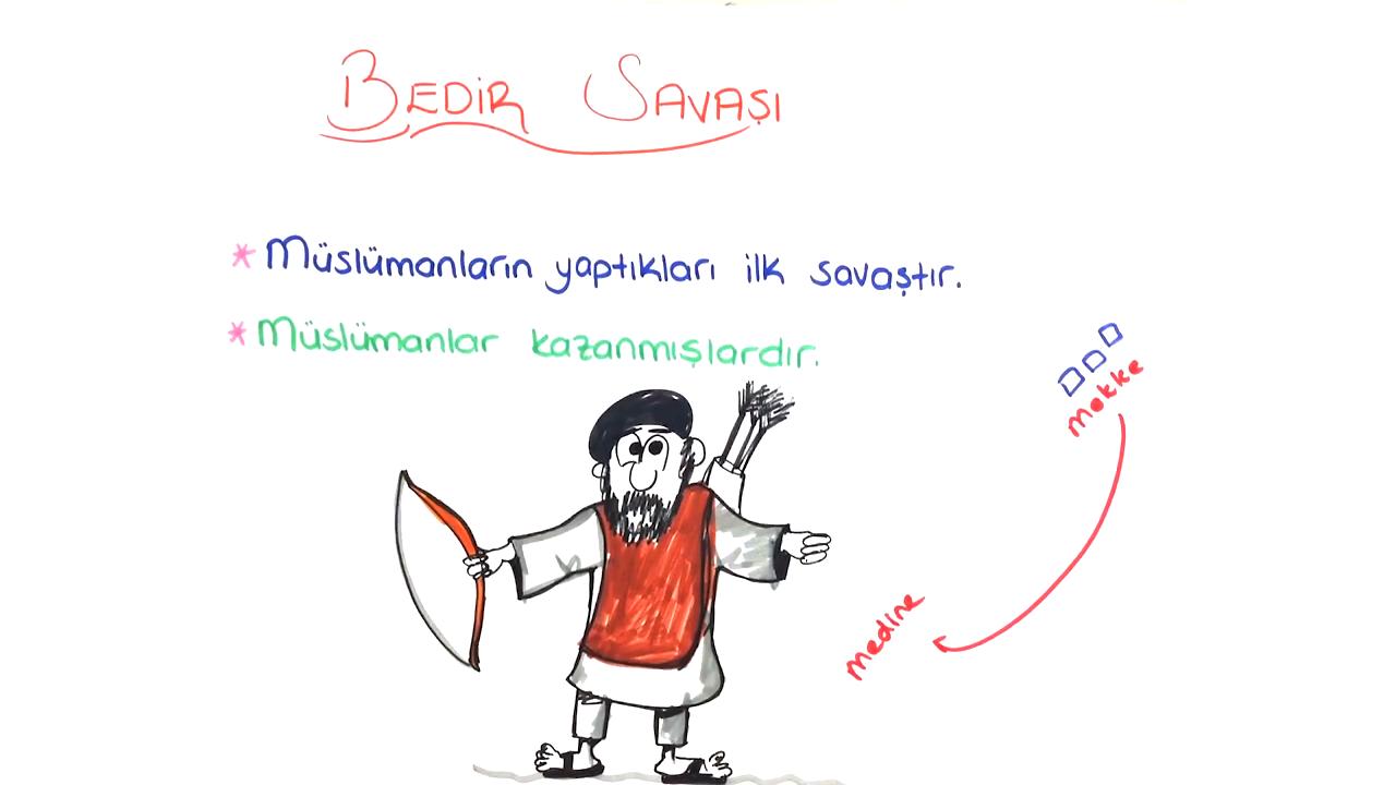 İslamiyet'in Doğuşu ve Değişim konusu Bedir Savaşı eğitimi