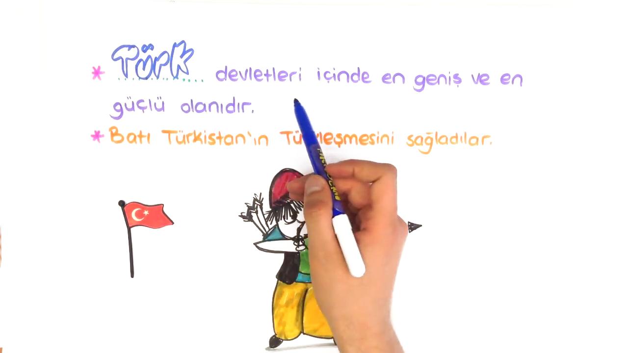 Tarih Sahnesinde Türkler konusu II. Kök Türk (Kutluk) Devleti eğitimi