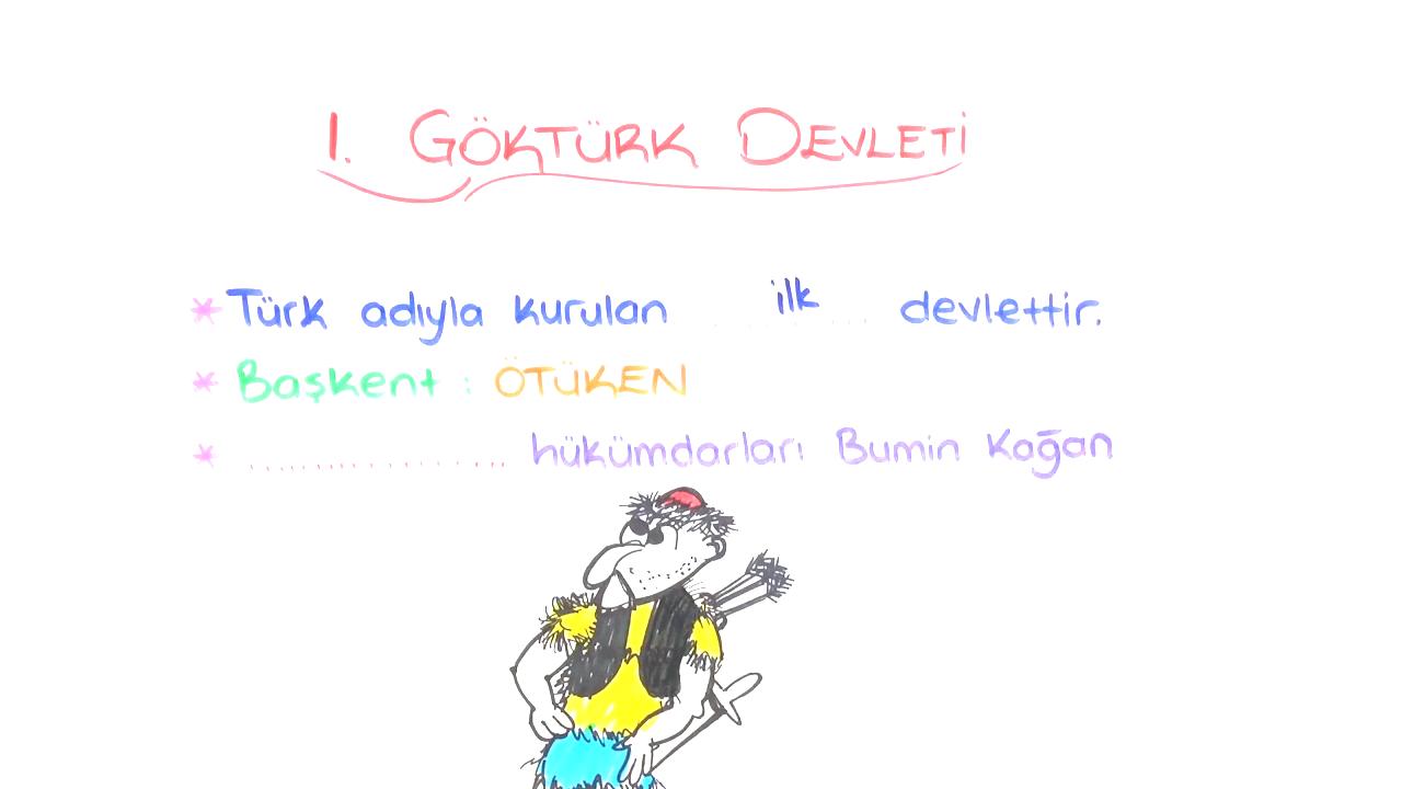 Destan ve Yazıtlarda Türkler konusu I. Kök Türk Devleti eğitimi