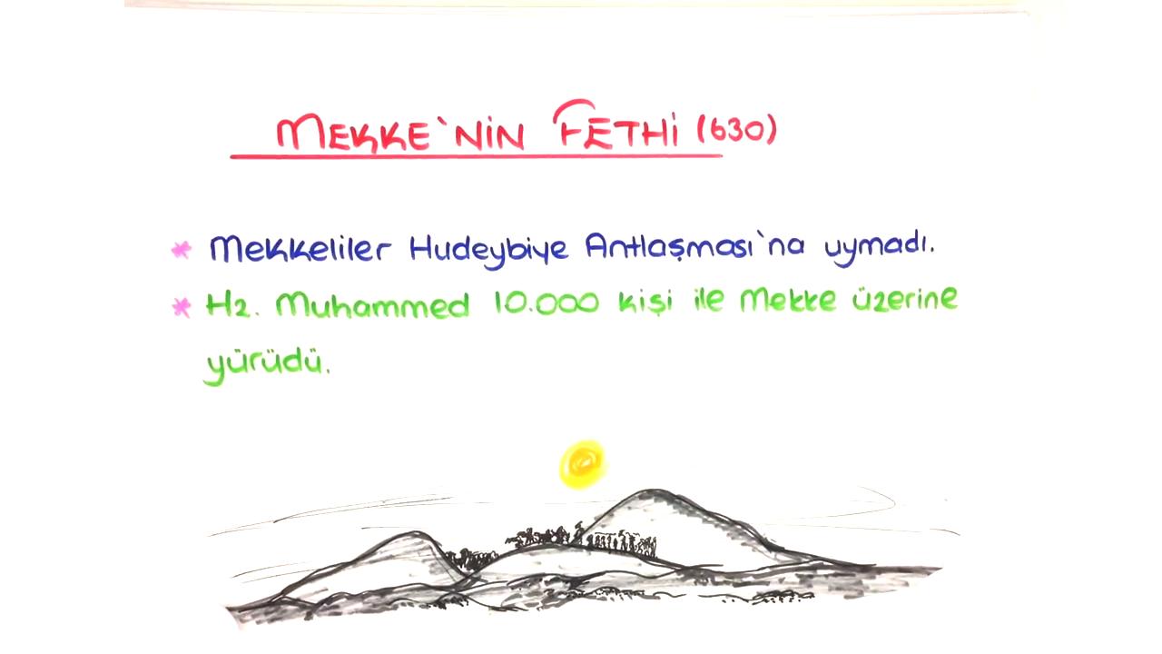 İslamiyet'in Doğuşu ve Değişim konusu Mekke'nin Fethi eğitimi