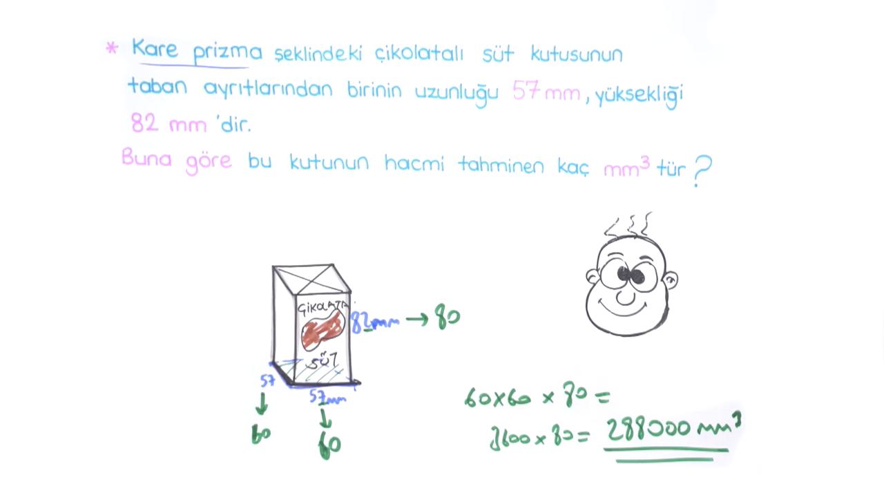 Geometrik Cisimler ve Hacim Ölçme konusu Prizmaların Hacmini Tahmin Etme eğitimi