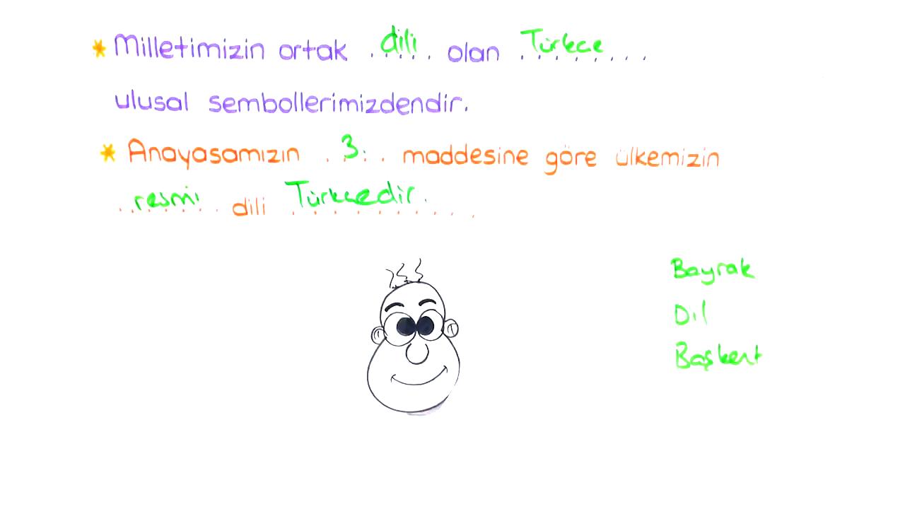 Ortak Değerlerimiz konusu Ses Bayrağımız Türkçe eğitimi