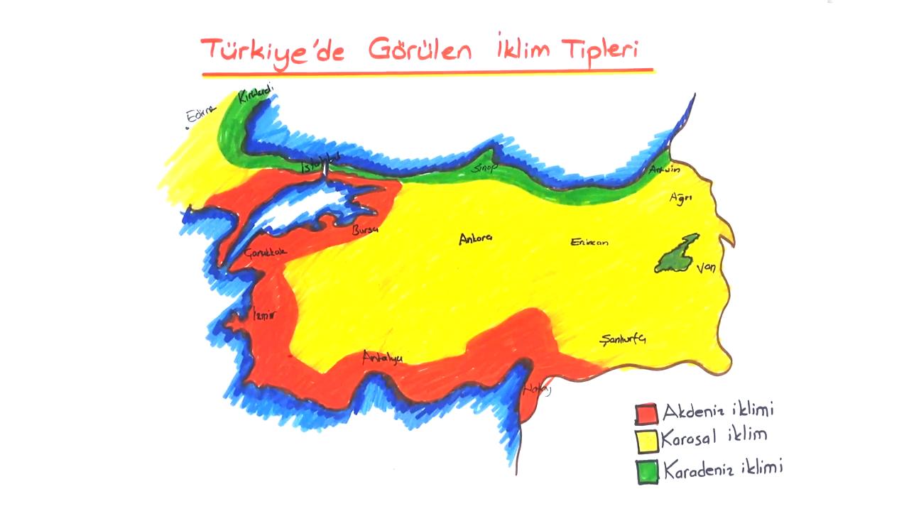 Ülkemin Güzellikleri Haritada konusu Türkiye'nin İklimi eğitimi