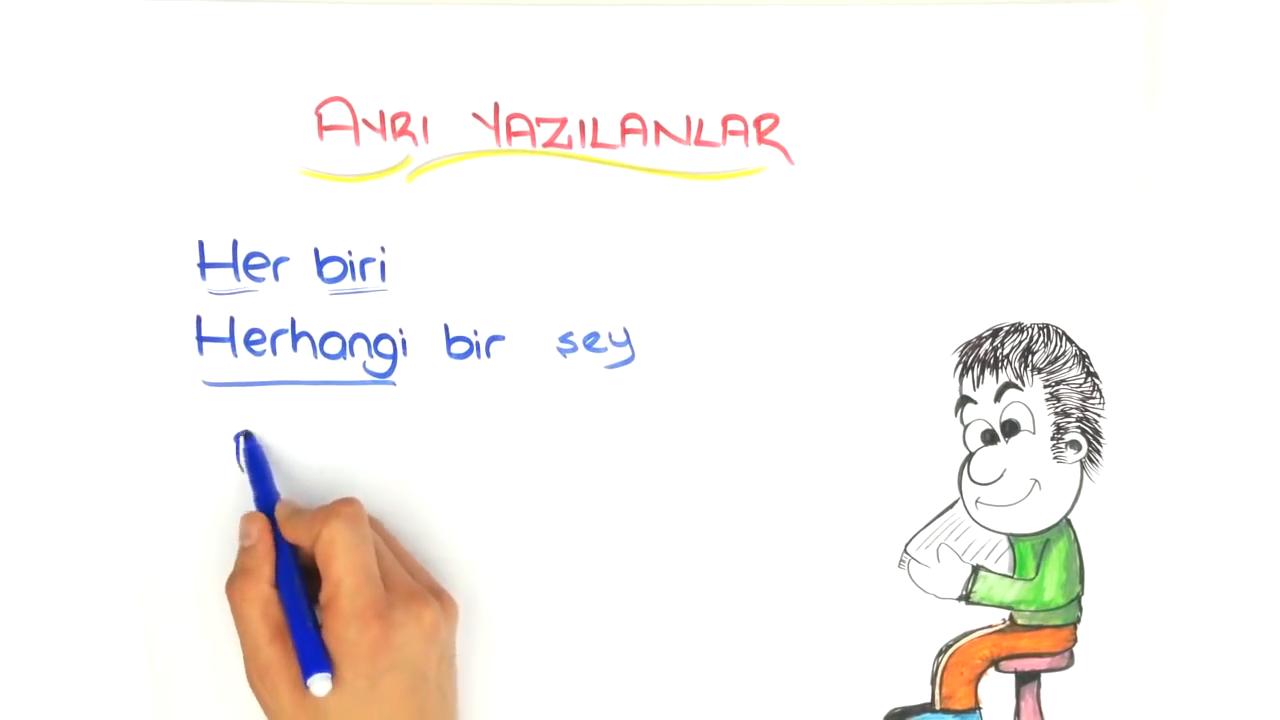 Yazım Kuralları konusu Yazımı Karıştırılan Sözcükler - 1 eğitimi
