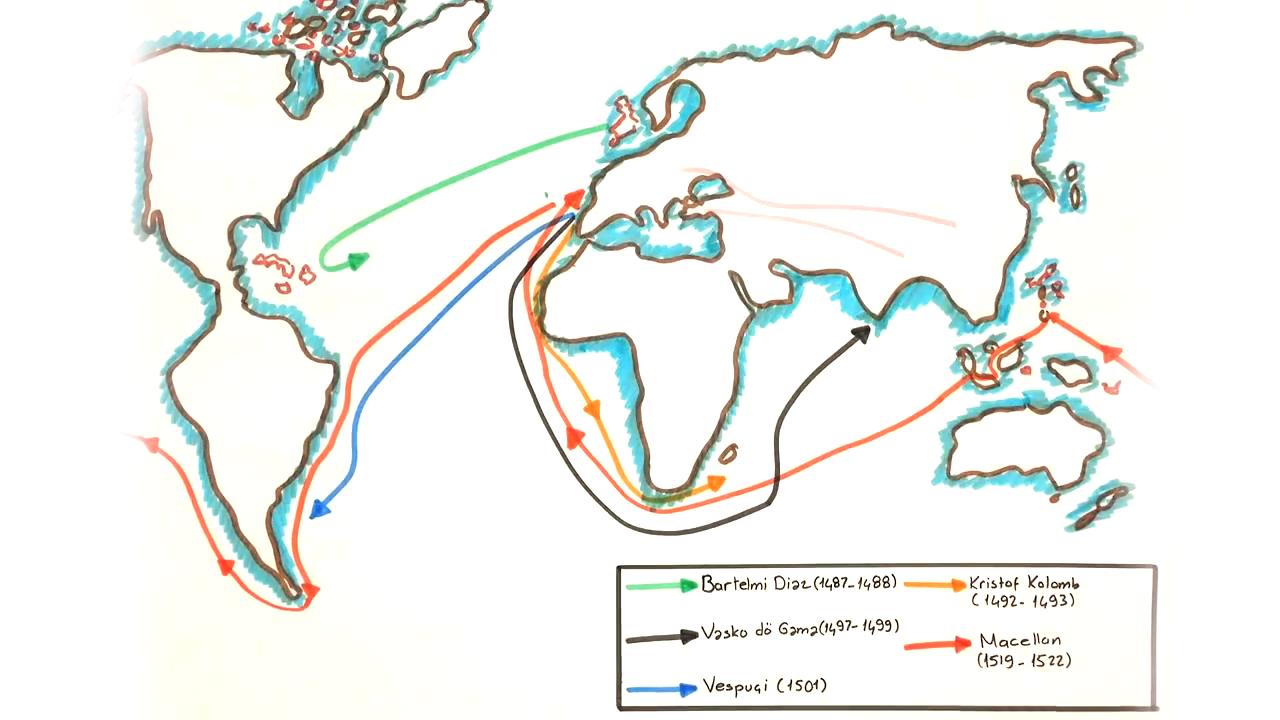 Avrupa'da Uyanış konusu Coğrafi Keşifler eğitimi