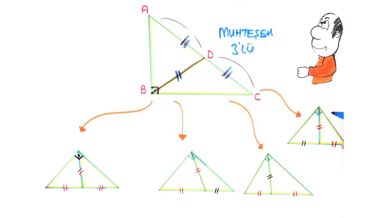 Dik Üçgen ve Trigonometri konusu Muhteşem Üçlü eğitimi