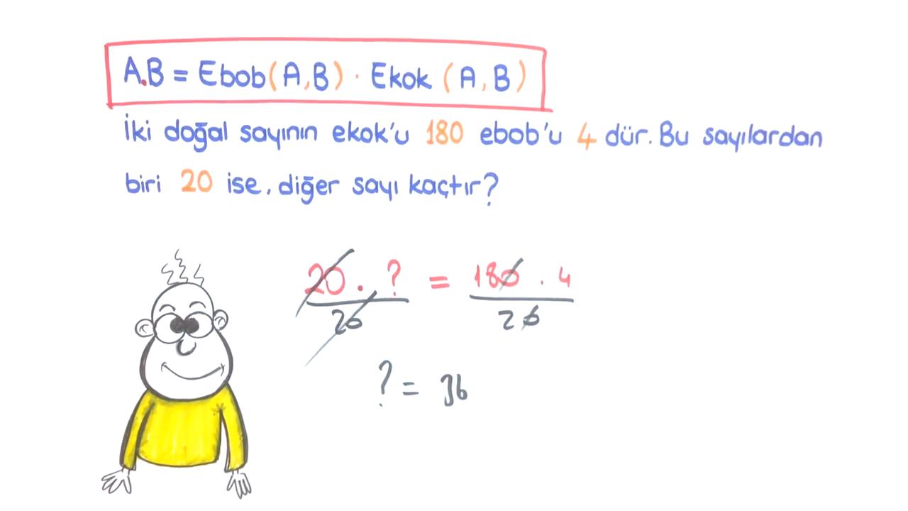 Çarpanlar ve Katlar konusu EBOB - EKOK Problemleri 2 eğitimi
