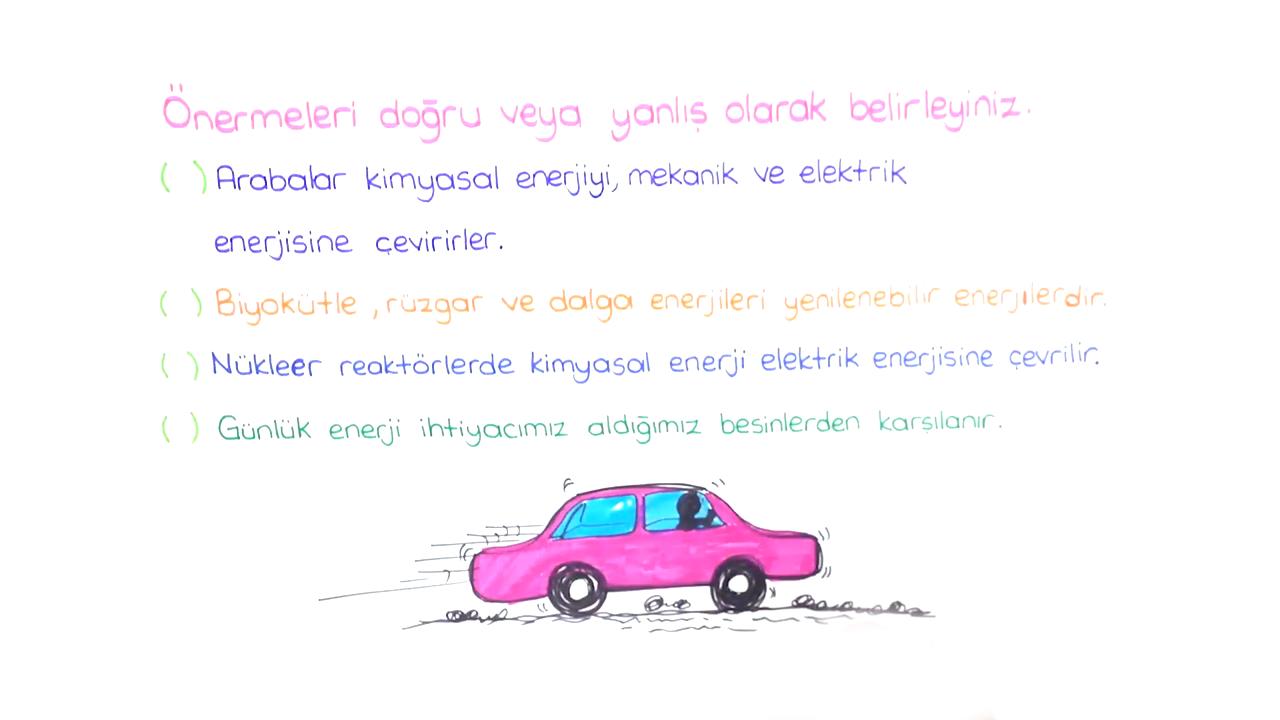 Enerji Kaynakları konusu Enerji Kaynakları, Enerji Dönüşümleri, Beslenme - Soru Çözümü eğitimi