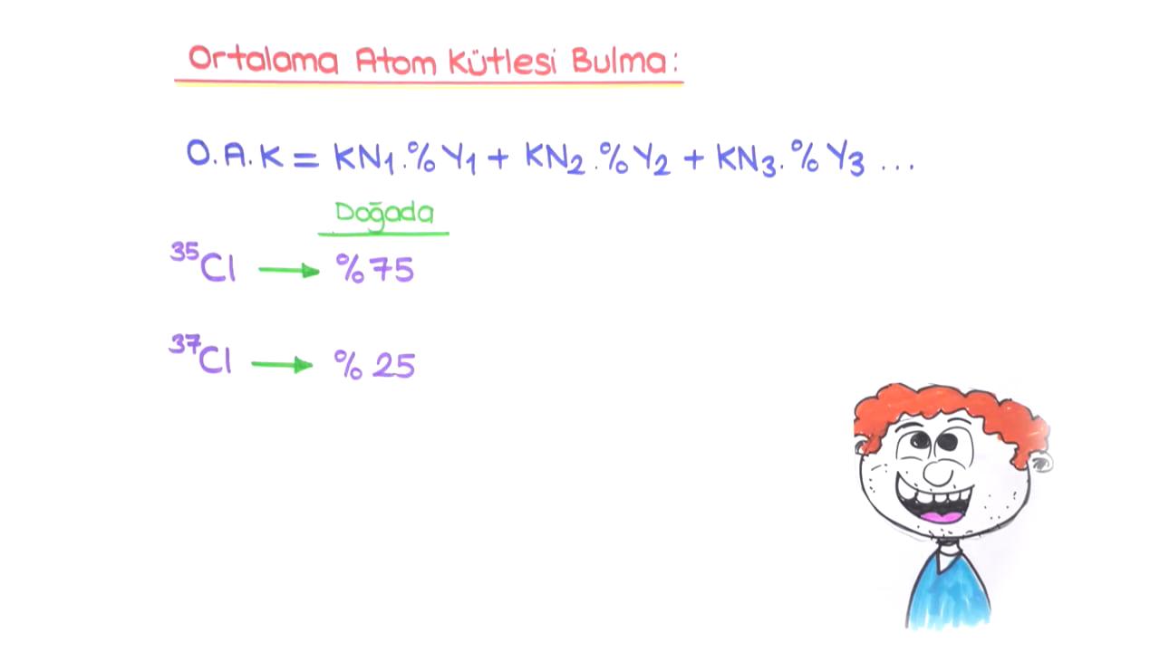 Mol Kavramı konusu  İzotop Atomlar ve Bağıl Atom Kütlesi eğitimi