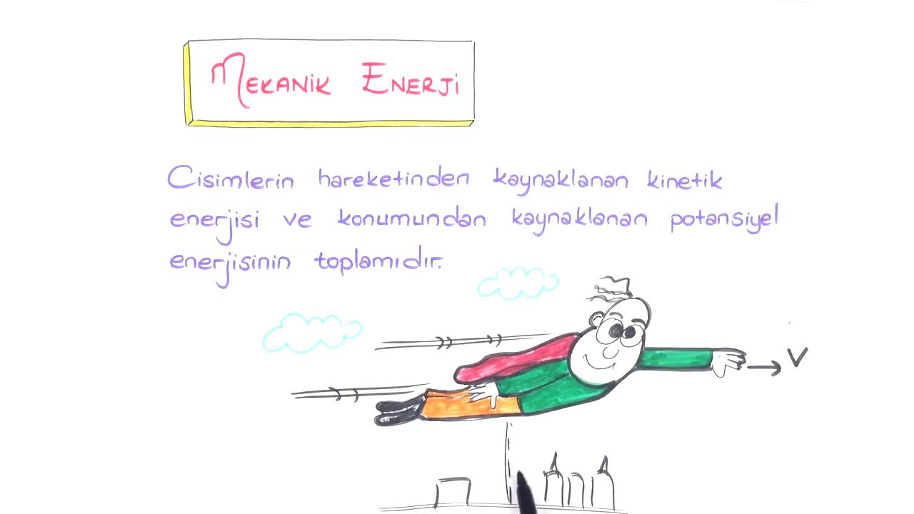 İş, Enerji ve Güç konusu Mekanik Enerji eğitimi