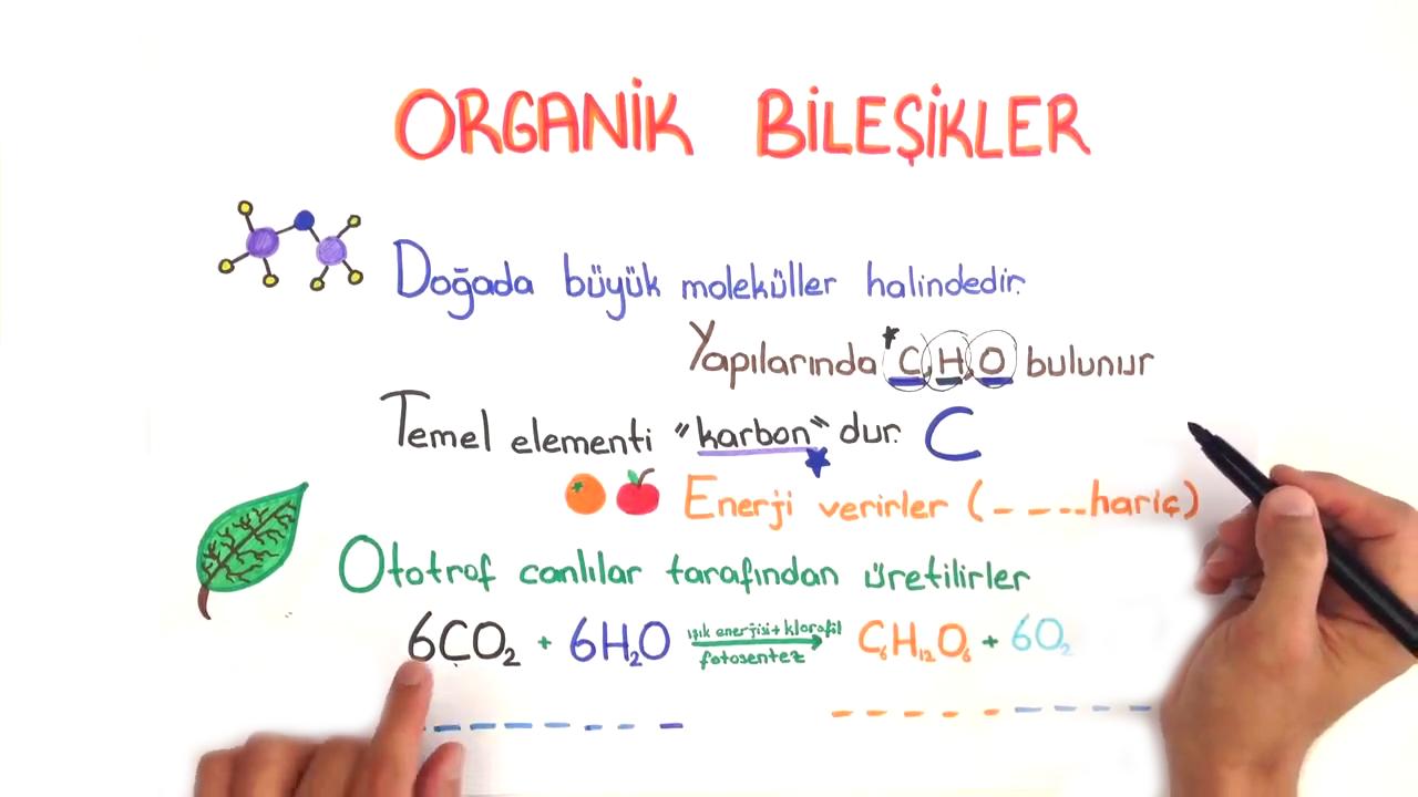 Organik Bileşikler konusu Organik Bileşikler eğitimi