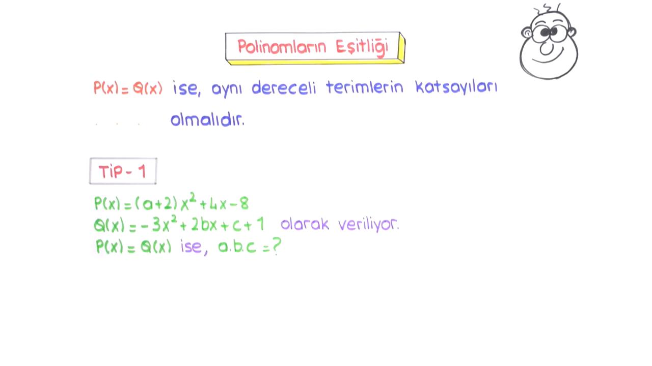Polinomlar konusu Polinomların Tanımı ve Çeşitleri eğitimi