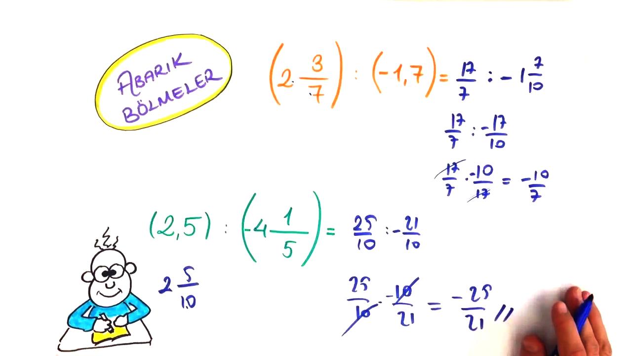 Rasyonel Sayılarda İşlemler konusu Rasyonel Sayılarda Bölme eğitimi
