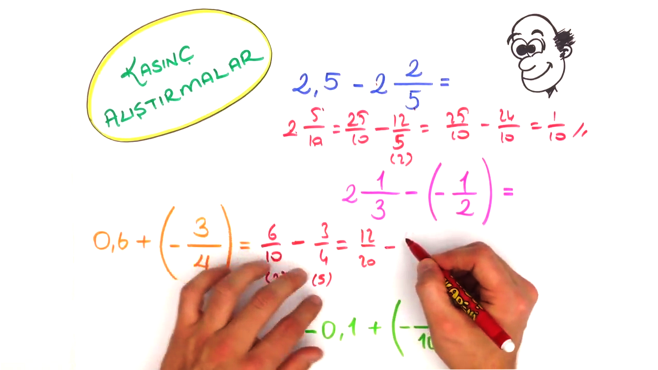 Rasyonel Sayılarda İşlemler konusu Rasyonel Sayılarda Toplama ve Çıkarma eğitimi