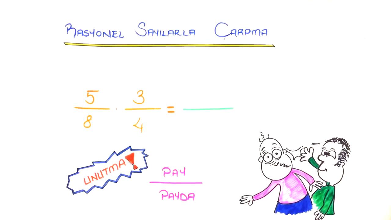 Rasyonel Sayılarda İşlemler konusu Rasyonel Sayılarda Çarpma eğitimi