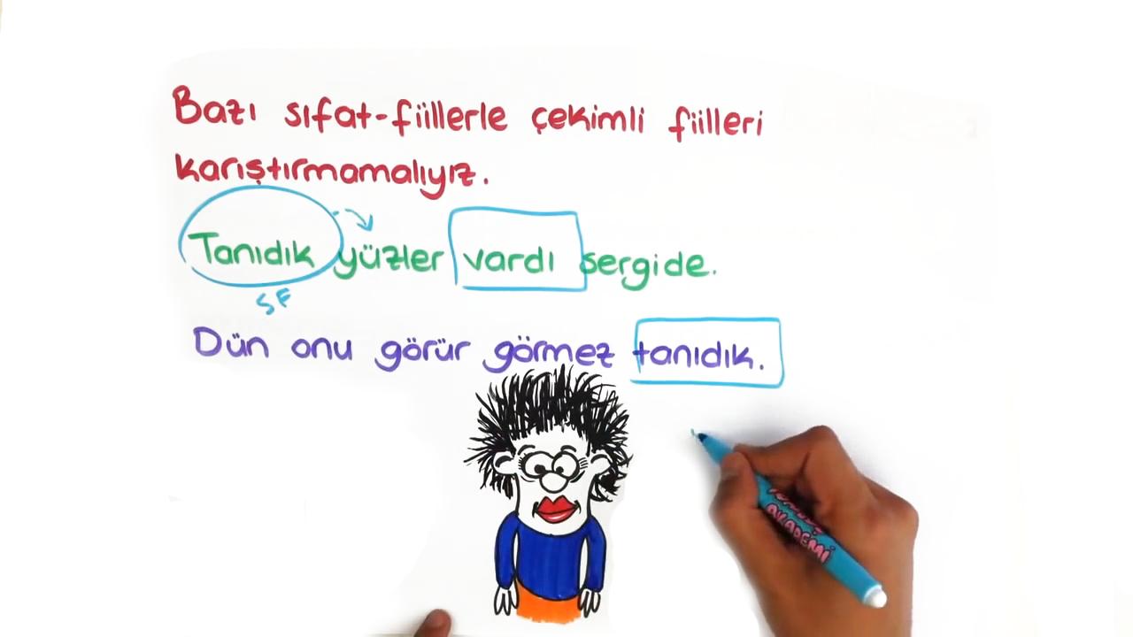 Dil Bilgisi konusu Sıfat Fiil eğitimi