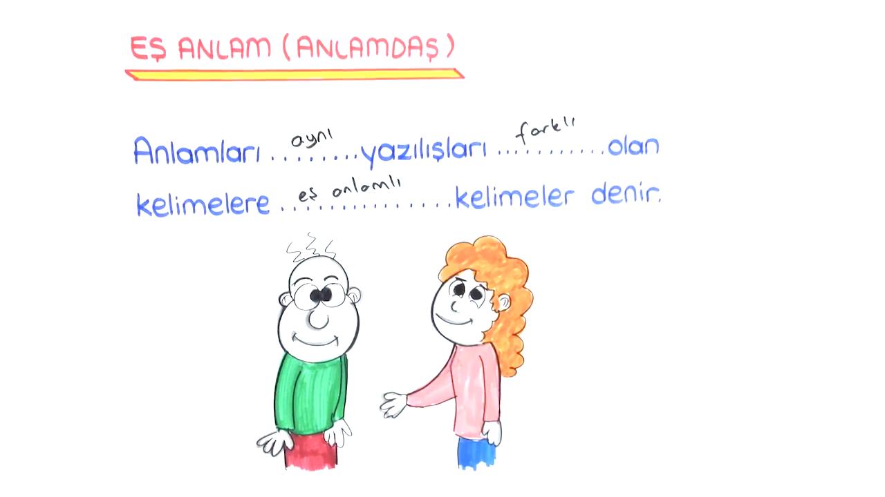 Sözcükte Anlam konusu Sözcükte Anlam 2 eğitimi