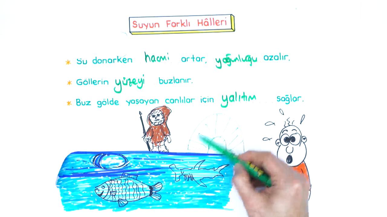 Maddenin Fiziksel Halleri konusu Suyun Farklı Halleri eğitimi