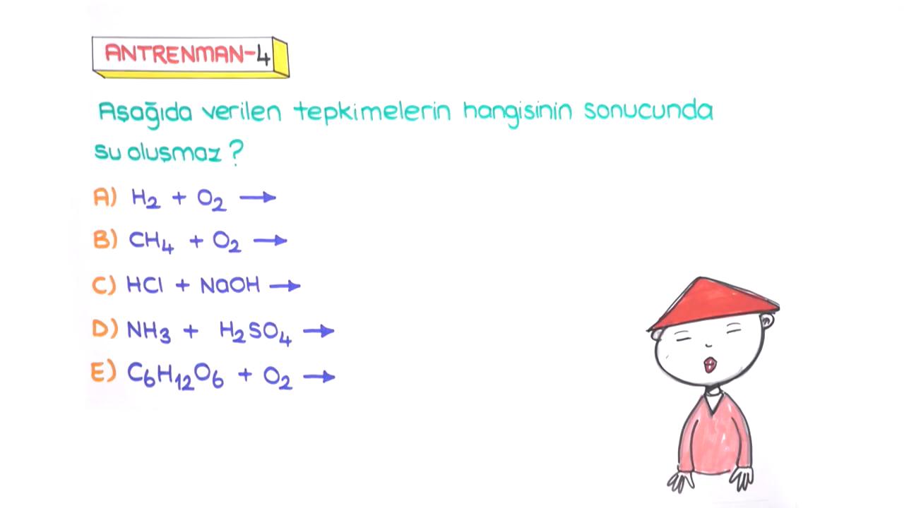 Kimyasal Tepkimeler ve Denklemler konusu Tepkime Türlerinin Karşılaştırılması eğitimi