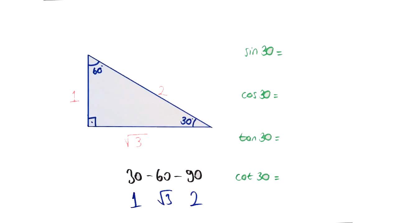 Dik Üçgen ve Trigonometri konusu Trigonometri Özel Üçgenler eğitimi