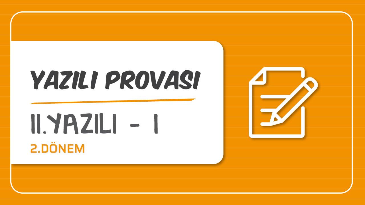 Türkçe 2.Dönem Yazılı Provaları konusu Türkçe 2.Yazılı Provası - I eğitimi