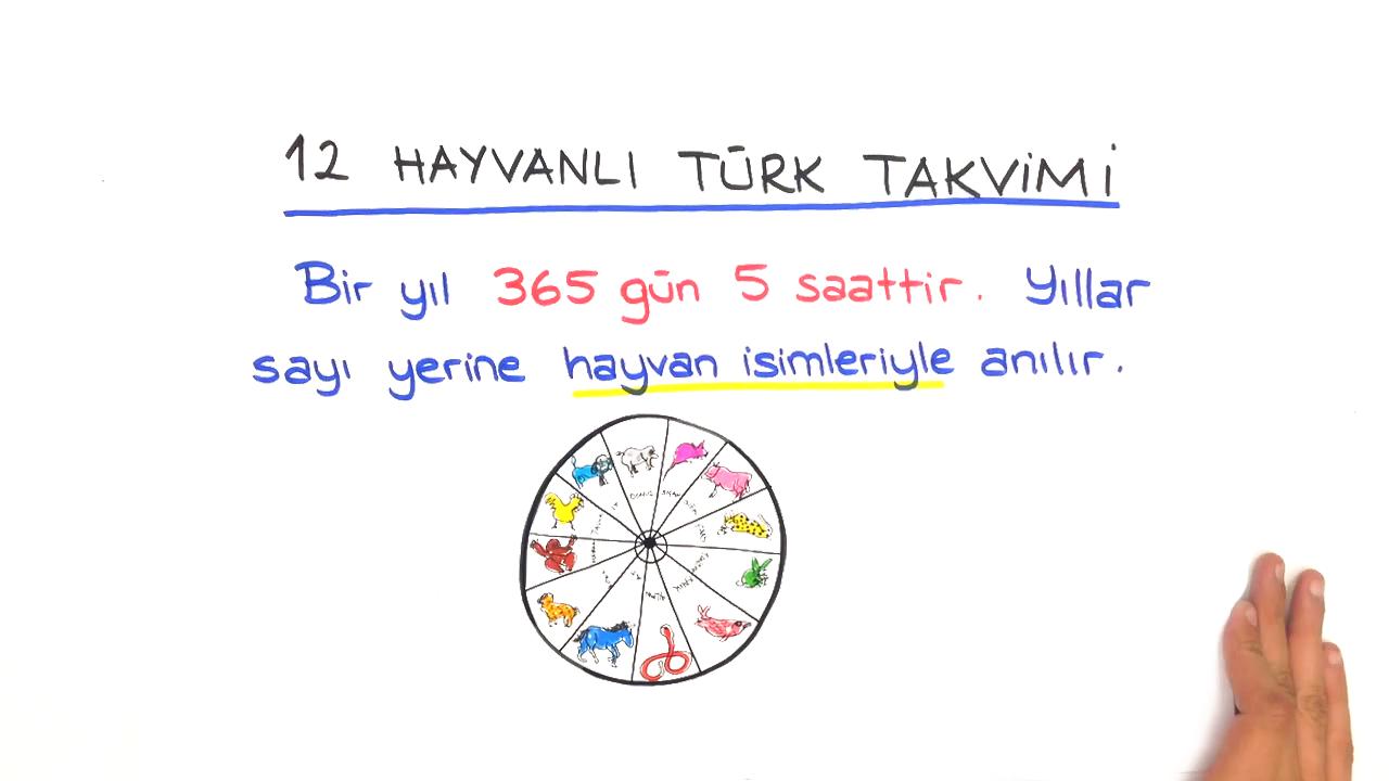 Zamanın Taksimi konusu Türklerin Kullandığı Takvimler eğitimi