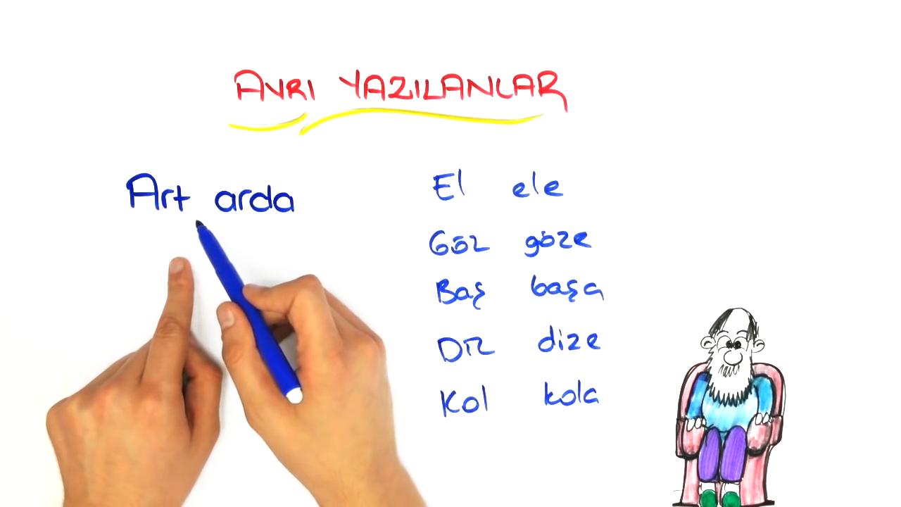 Dil Bilgisi konusu Yazımı Karıştırılan Sözcükler - 1 eğitimi