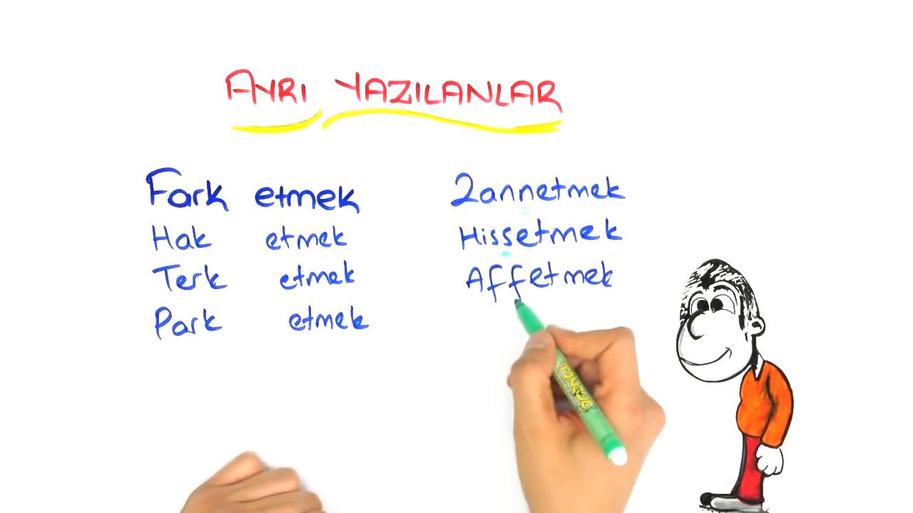 Dil Bilgisi konusu Yazımı Karıştırılan Sözcükler - 2 eğitimi