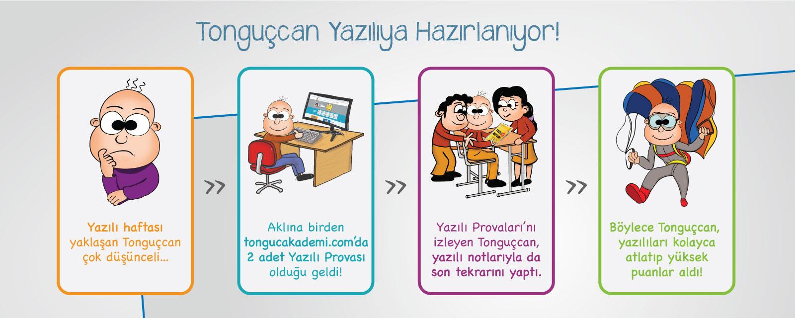 Tonguçcan Yazılıya Hazırlanıyor